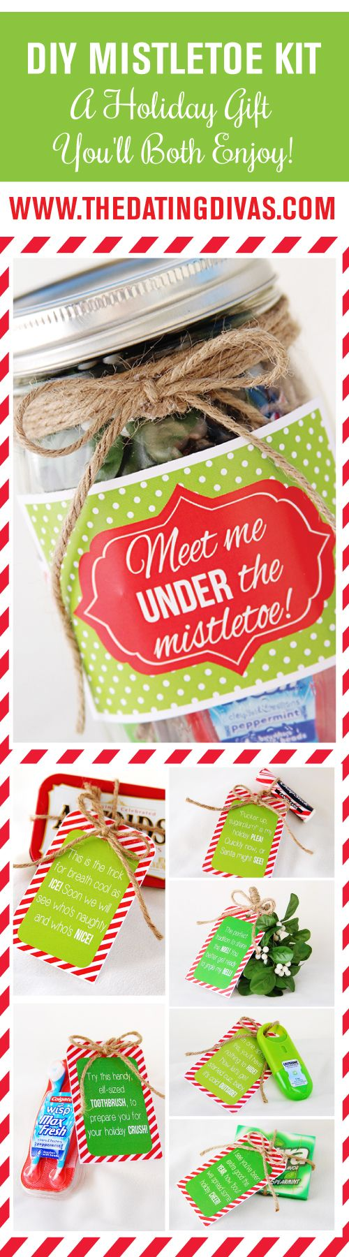 Adorable DIY Mistletoe Kit! Free download.