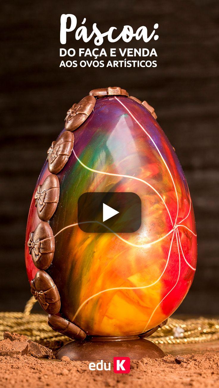 Quer aprender a fazer este e mais 18 tipos de ovos de Páscoa incríveis? Além de técnicas diferenciadas e tendências no chocolate para você lucrar nesta Páscoa? Clique na imagem e assista o passo a passo com nosso expert Alexandre Bispo ;)