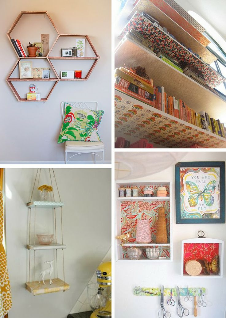 diy monday shelves - Pinterest Decorating Ideas Bedroom