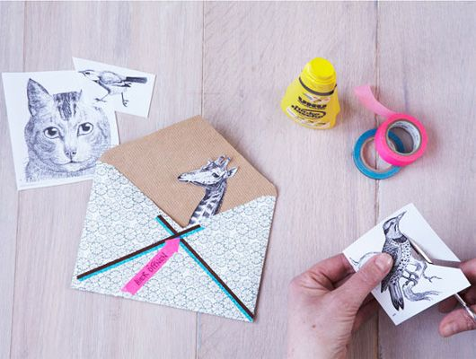 Crafty Handmade Envelopes DIY via decor8blog. Photo & styling: Katja Graumann, Anke Schutz.