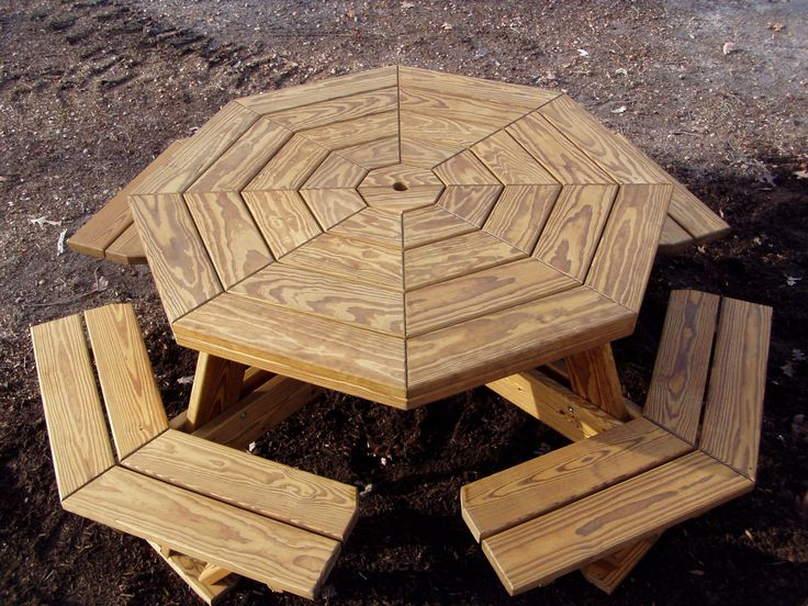 octagon walk in picnic table plans free