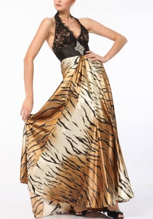 @Samantha Nelson I told you I was going to find you a tiger print dress! (and really don't expect you to like this one!)