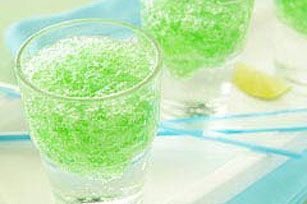 JELL-O Spritzers. Make w/Sprite and blue raspberry or cherry jello for perfect 4th of July drinks.   #kraftrecipes