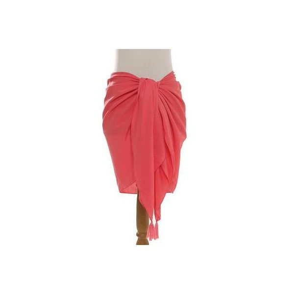 NOVICA Handmade Pink 100% Rayon Short Sarong from Indonesia ($20) ❤ liked on Polyvore featuring swimwear, cover-ups, clothing & accessories, pink, sarongs, short, novica, boy-short swimwear, rayon sarong and beach swimwear
