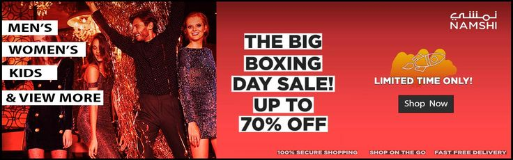 Buy Online an get up to 70% discount on all products such as Clothes, Shoes, Watches, Perfumes, Jewellery, Belt, and much more. The available brands are Nike, Adidas, Aldo, Ella, Puma, Mango etc.