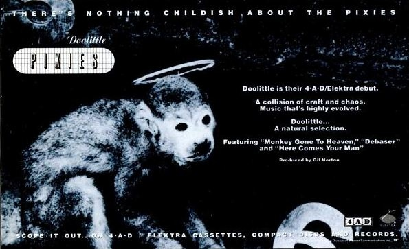Ad for Pixies' 'Doolittle' in Spin, June 1989.