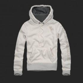Abercrombie Mens Fashionable Hoodie White 16