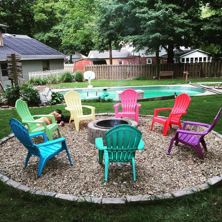 Finally getting some use out of the #firepit after a soggy start to the summer. The chairs look new...thanks #mrcleanmagiceraser! #sweetsummertime