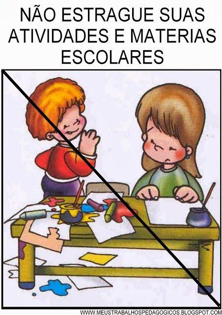 Muitas crianças necessitam de dicas visuais para atentarem para a ordem, para compreenderem a ordem e ainda para fixarem a ordem....criança...