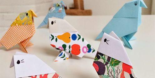 Oiseaux origami déco