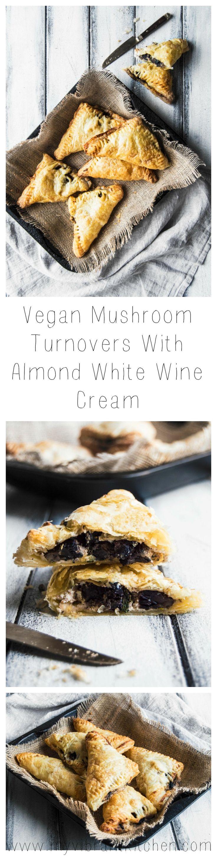 My Vibrant Kitchen | Vegan Sage Mushroom Turnovers With Almond White Wine Cream | myvibrantkitchen.com
