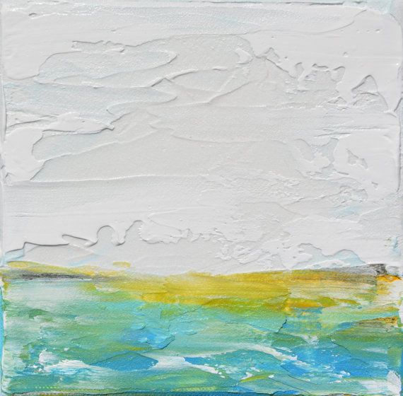 Abstract landscape field painting original minimalist for Minimal art landscape