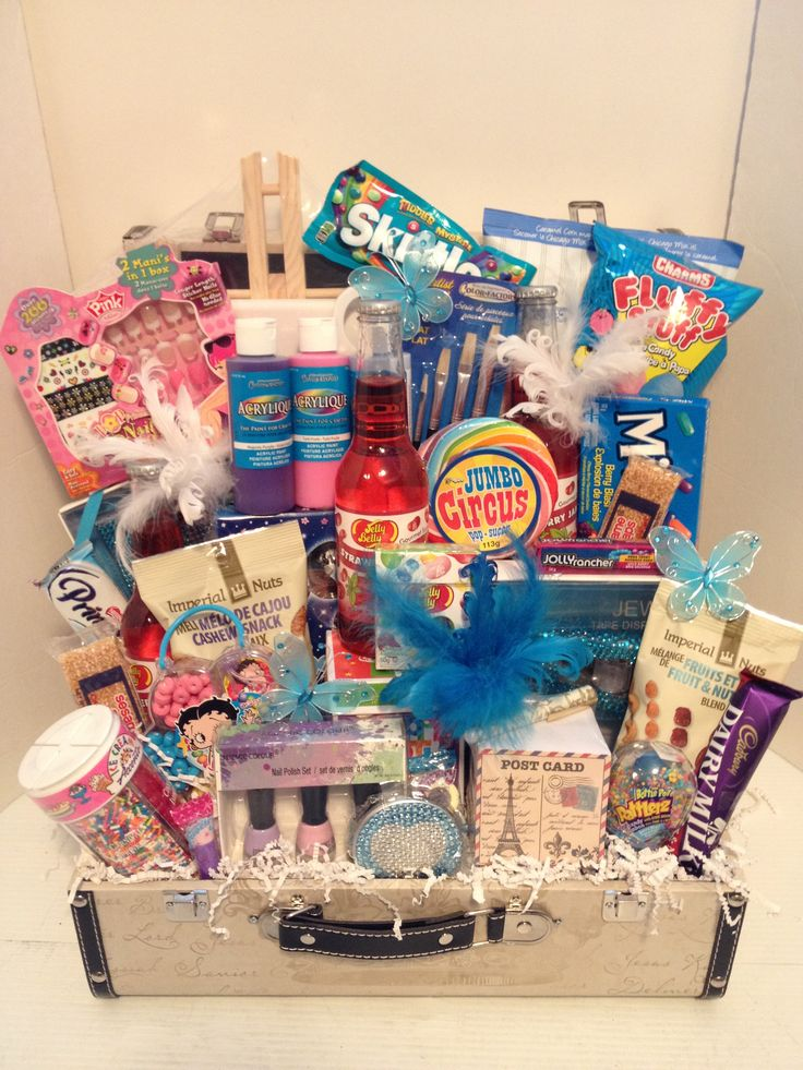Birthday Gift Baskets : Parish theme birthday girl gift basket ideas