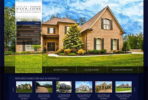 Website Real Estate Desain Terbaik - Knoxville Fine Homes - Knoxville, TN