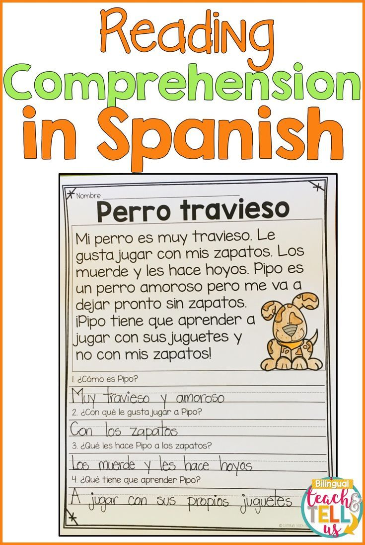 Reading Comprehension Passages In Spanish For First Grade Students This Teaching Resourc Spanish Reading Comprehension Spanish Reading Dual Language Classroom [ 1095 x 735 Pixel ]