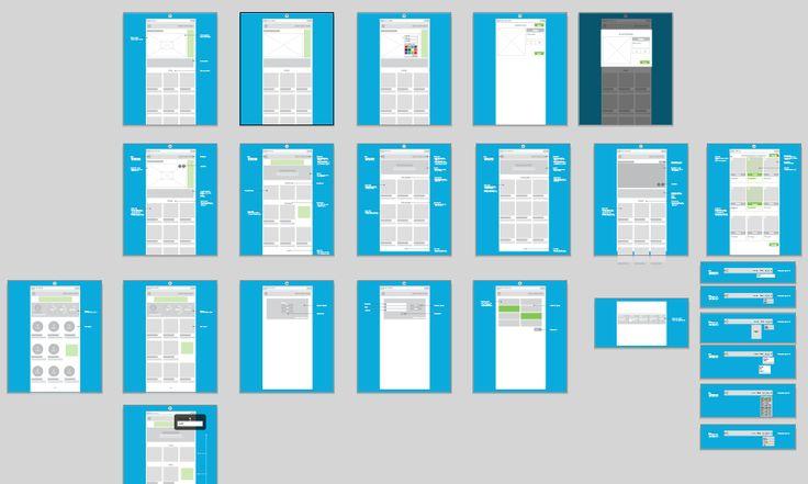 Web Wireframes - User Flow by Jana de Klerk on @creativemarket