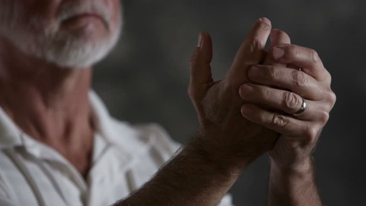 Senior Man Rubbing Hands Together In Pain Stock Footage Video 4800692 - Shutterstock