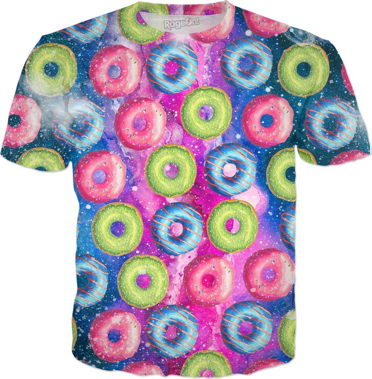 Sweet Space Doughnuts  #rageon #colorful #sweet #tshirt #funny #doughnuts #doughnutshirt #sweetspace #spaceshirt