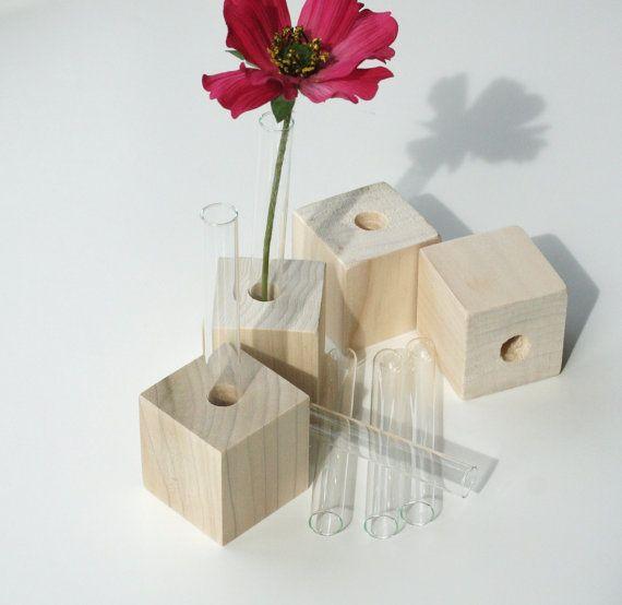 Bud Vases Set of Four DIY flower test tube vases by LynettesArt, $10.00