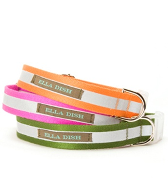 miles and I LOVE these Ella dish reflective dog collars. He wants the green one even though I love pink.