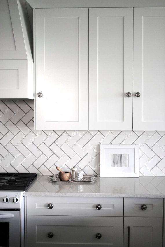 kitchen 11 best Diagonal subway tile images