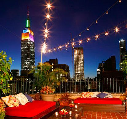 Rare Bar and Grill offers one of the best views of the Empire State Building in Manhattan.