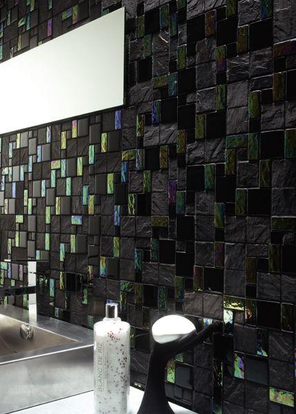 glass tile french pattern black black backsplash glass tile backsplash