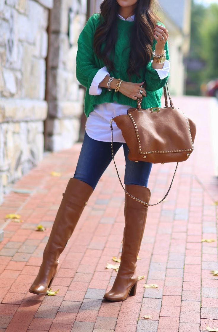 15 Style Ideas How To Wear Over The Knee Boots For Early Fall - Be Modish - Be Modish