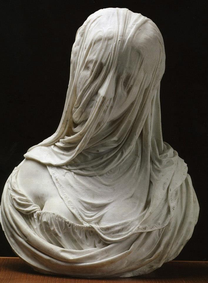 Antonio Corradini Busto Di Una Donna Velata Puritas