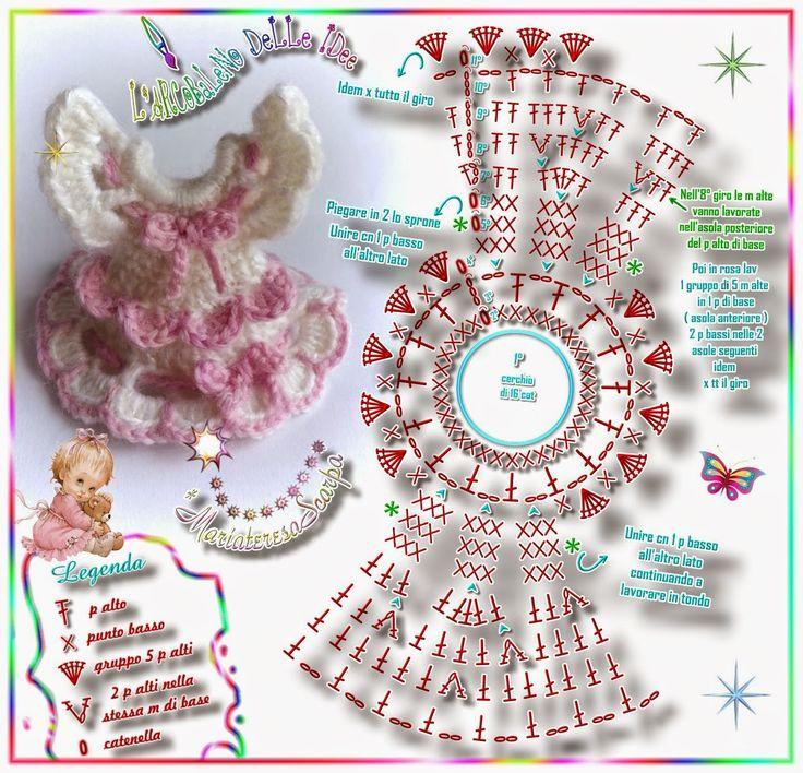 ¤*L'ARCoBaLeNo DeLLe IDee*¤: Mini vestina *BaMBoLiNa* with some modifications it would work on a clothpin doll .