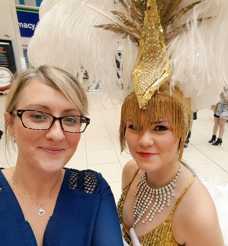 One of us is super sparkly and one is very jealous! At the launch of the #retailerawards In Intu Eldon Square , Newcastle upon Tyne