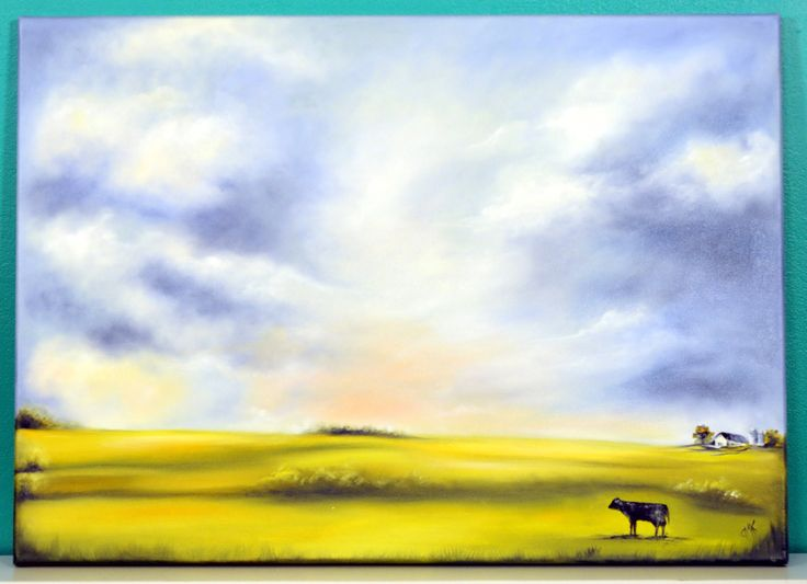 Pintar Paisaje al Oleo - Como pintar nubes - Herminia Devoto - Claudia K...