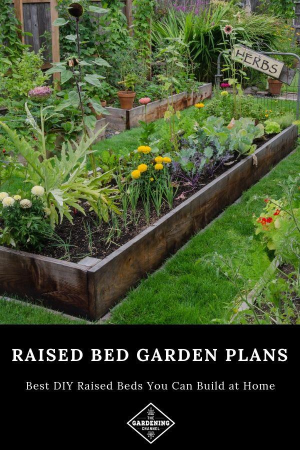 Best Diy Raised Bed Garden Plans Gardening Channel Small Backyard Gardens Backyard Garden Design Vegetable Garden Design