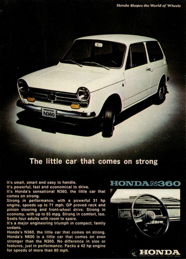 Honda N 360.  US version was N 600 priced @ $1,271.