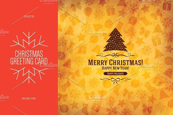 Christmas And New Year Greeting Card New Year Greeting Cards New Year Greetings Greeting Card Template