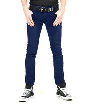 Bleeding Heart Men's Stonewash Skinny Fit Jeans (Blue)