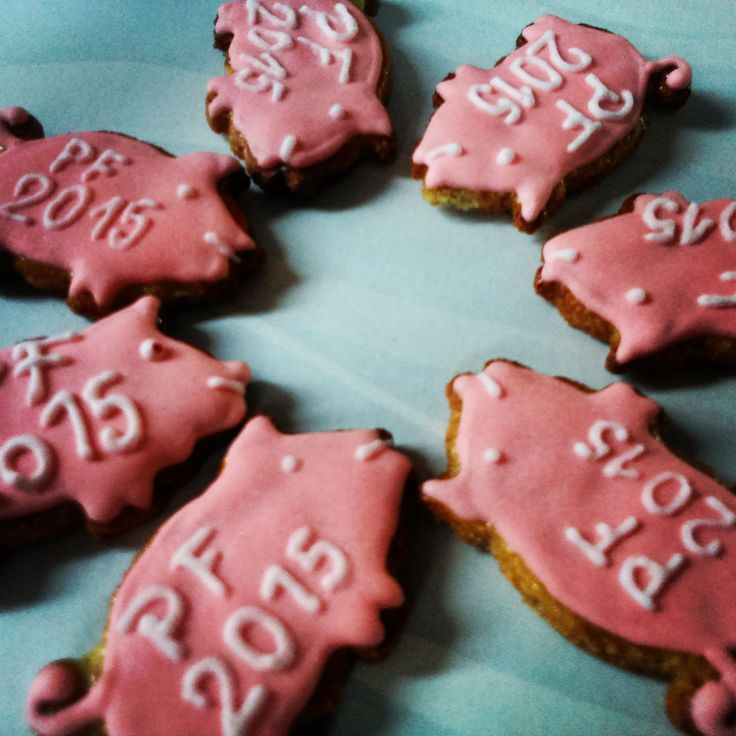New Year's Honiees - gluten free honey cookies for luck.