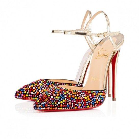Mary Jane con applicazioni Christian Louboutin - Modello con applicazioni multicolor fra le scarpe della Primavera/Estate 2016