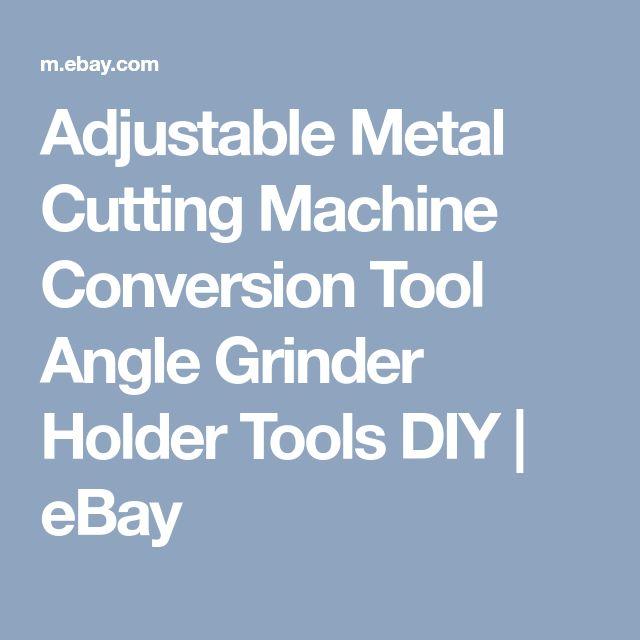 Adjustable Metal Cutting Machine Conversion Tool Angle Grinder Holder Tools DIY | eBay