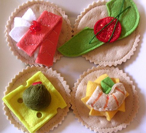 502 best felt food images on pinterest felt crafts for Canape tutorial