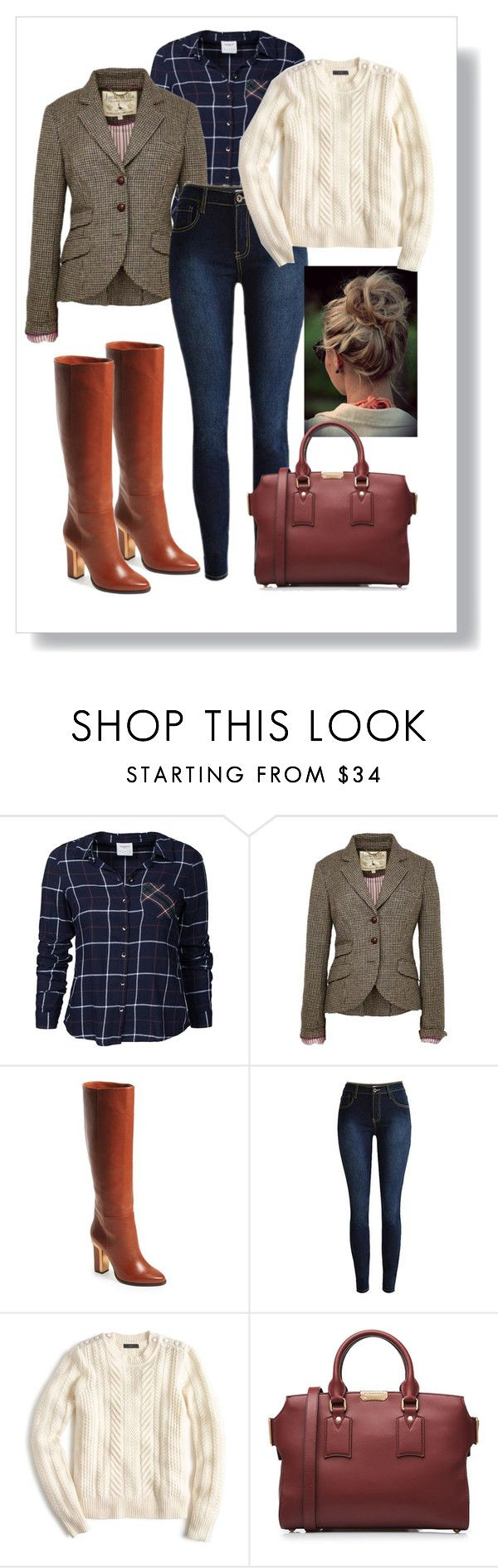 """""""Day at St Andrews"""" by lorilee3131 ❤ liked on Polyvore featuring Vero Moda, Jack Wills, BCBGMAXAZRIA, J.Crew, Burberry, women's clothing, women's fashion, women, female and woman"""