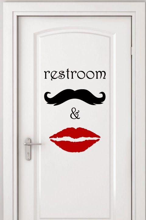 Unisex Restroom Sign by WALLTAT