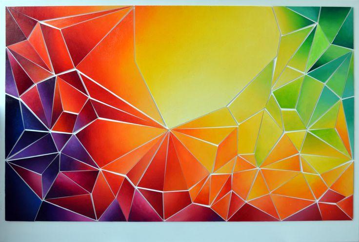 100x70 cm, akryl