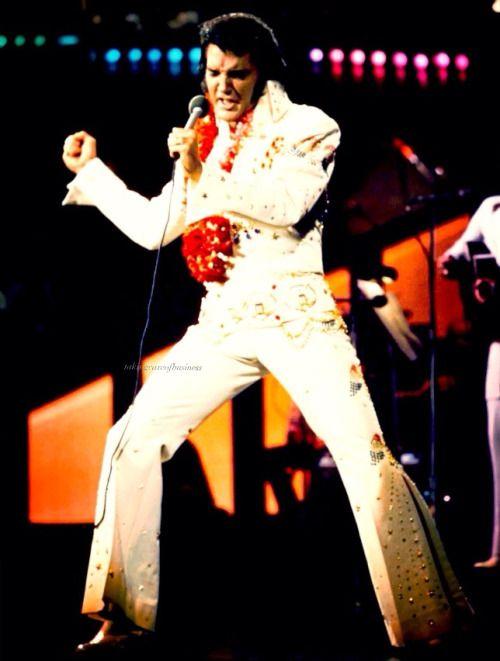 Elvis during Aloha from Hawaii concert, January 14, 1973.