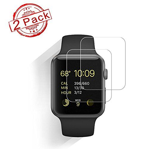 [2-Pack]Apple Watch 42mm Smart Watch Screen ProtectorHoperain 9H Hardness Anti-Scratch Anti-Fingerprint Bubble Free[Easy Installation]Screen Protector for Apple Watch Series and Series