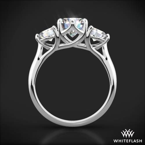 Metal Couture Platinum & Diamond Heart & Swallows Ring - UK M - US 6 - EU 52 3/4 RXjLcr