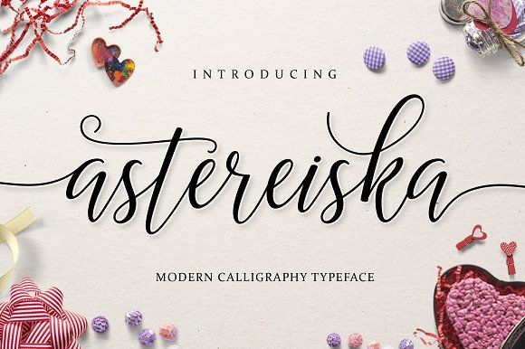 Astereiska Script by Amarlettering on @creativemarket