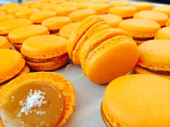 salted #caramel #macarons! #handmade www.thesweetspot.gr
