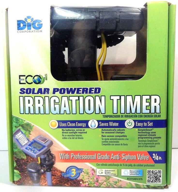 DiG ECO1 ECO1ASV.075 Single Station Solar Powered Irrigation Timer w/ASV NEW #DiG