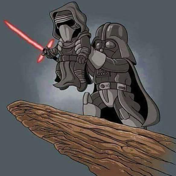 Darth Vader and Kylo Ren. Follow me if you like geek stuff, movies, travel, photography, starwars, and more.